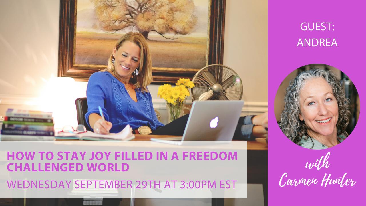 Andrea - joy webinar with Carmen Hunter Health